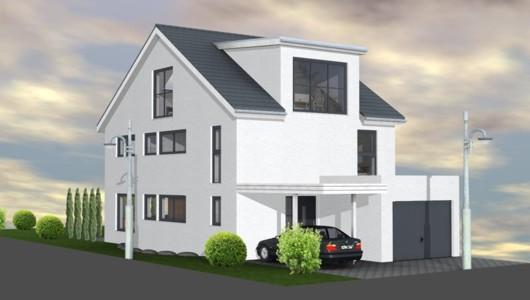 Einfamilienhaus neubau modern ~ Raum Haus mit ...